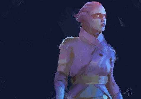 Mass Effect: Andromeda Peebee by Nate Bentley