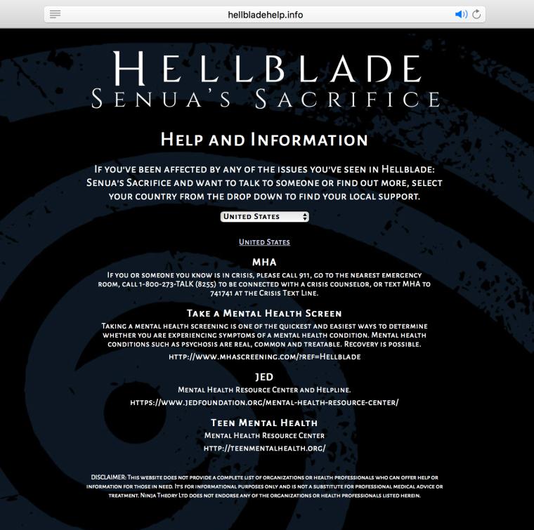 Mental Health Hellblade